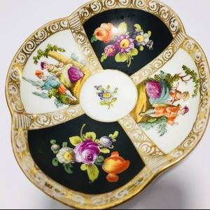 Antique, antique, hand painted, porcelain finished